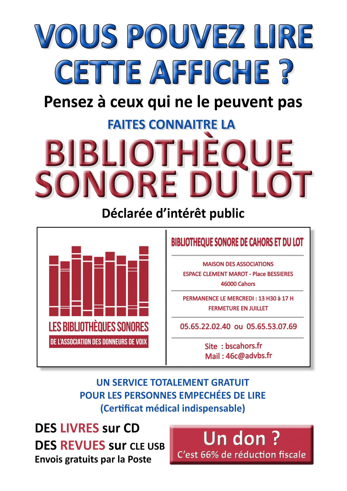 Affiche bibliotheque sonore a4