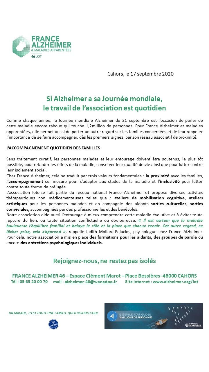 Alzheimer courrier jma 2020