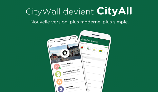 Nouvelle version de l'application CITYALL