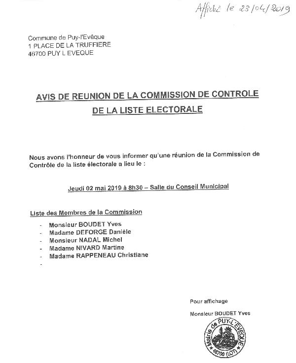 Commission liste electorale