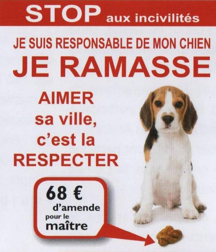 Dejections canines affiche