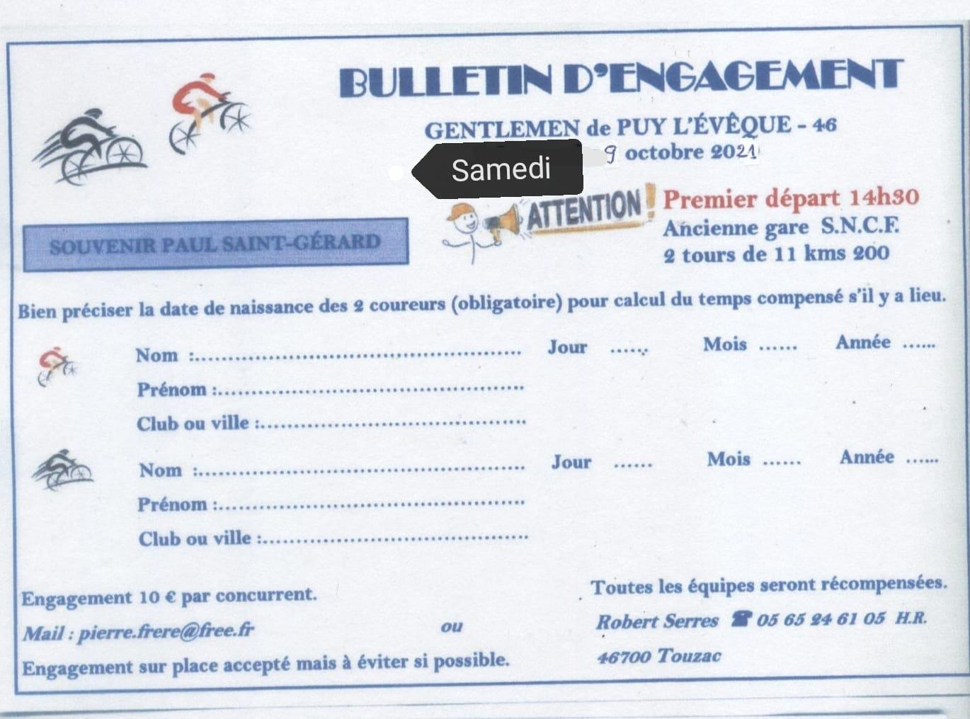 Engagement cycliste