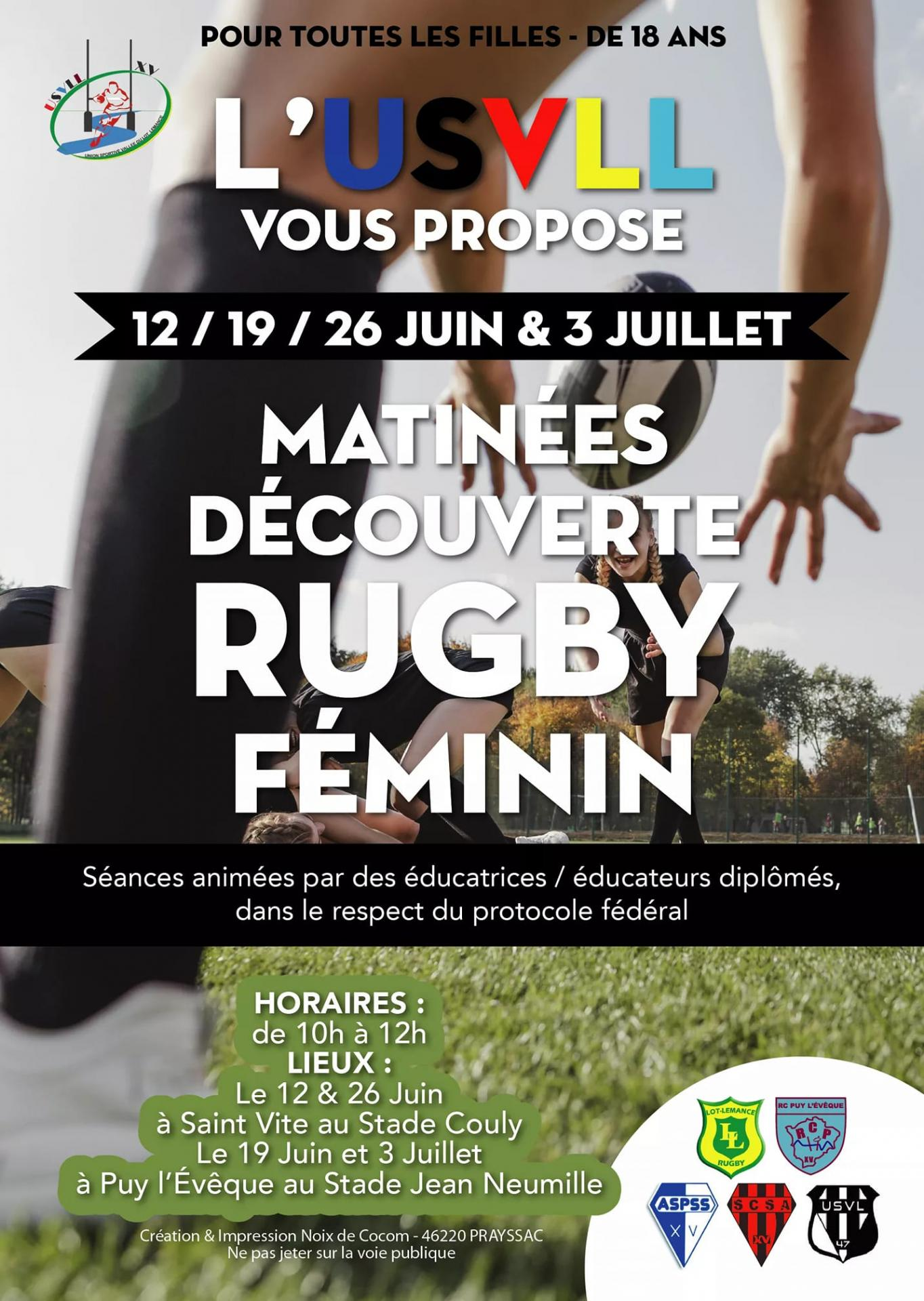 Matinee rugby feminin