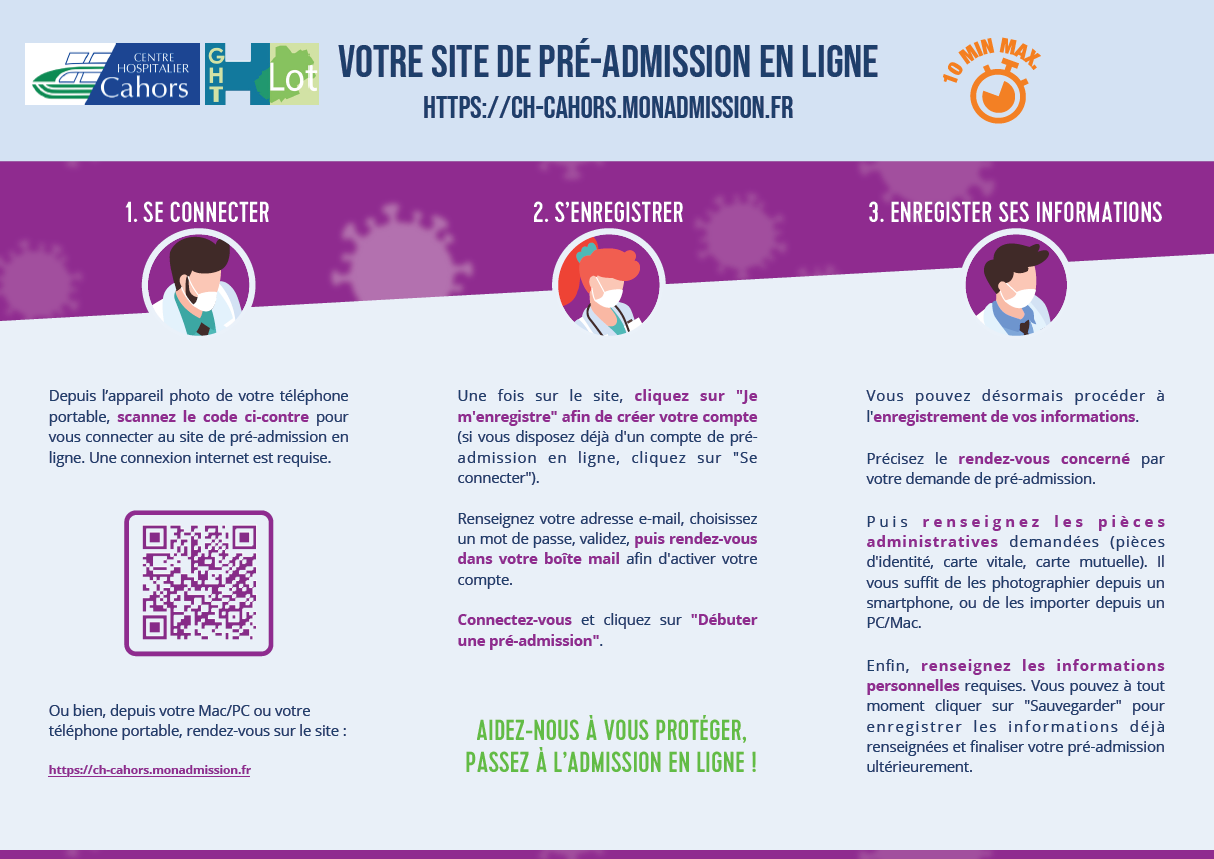 Pre admission hopital cahors